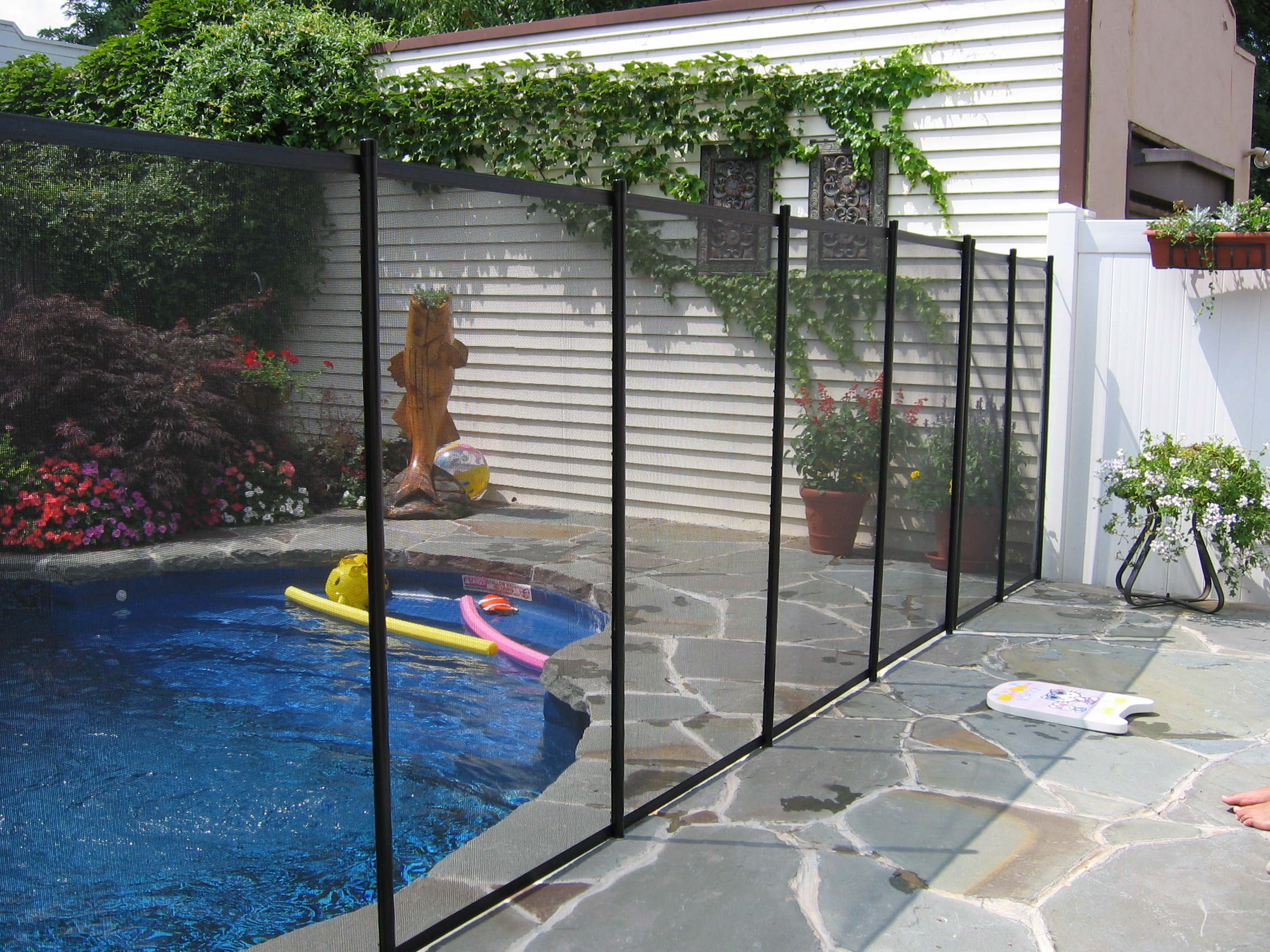 Pool safety fence photos