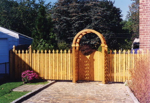 picket fence gate with arbor. wdf04 picket fence gate with arbor