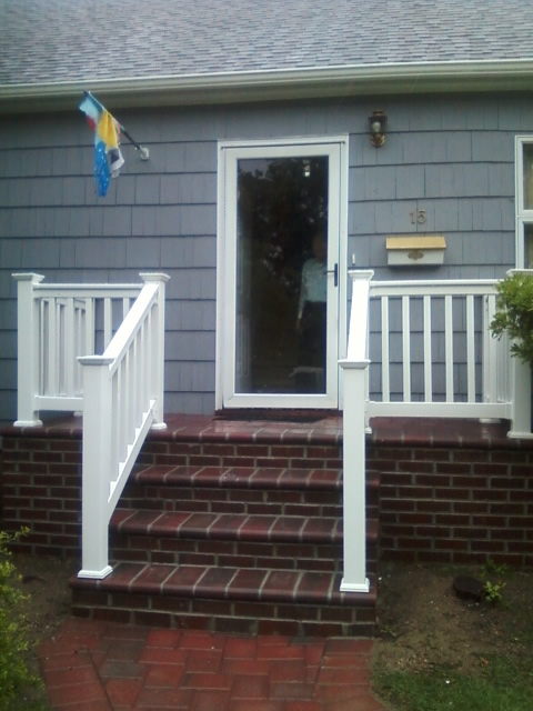 Phoenix PVC Railing with T-tail Style Top Rail